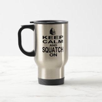 Caneca Térmica Mantenha a calma e o Squatch sobre