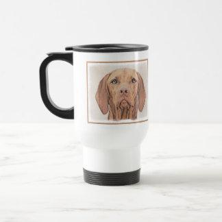 Caneca Térmica Pintura de Vizsla - arte original bonito do cão