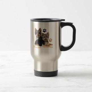 Caneca Térmica Presentes dobro do problema do yorkshire terrier