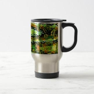 Caneca Térmica Romance verde da lagoa: Acena o espectro de n
