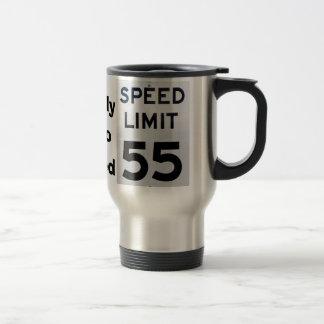 Caneca Térmica Sinal do limite de velocidade do aniversário 55 -