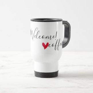 Caneca Térmica Você é bem-vindo - café do amor