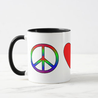 Caneca Terrier de seda do amor da paz