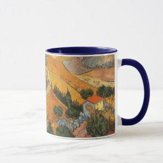 Caneca Vale com o Ploughman por Vincent van Gogh