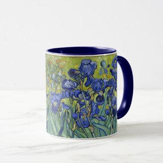 Caneca Van Gogh torna iridescente o vintage floral