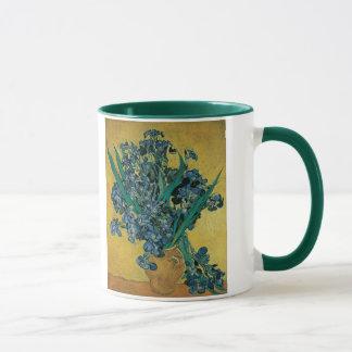 Caneca Vaso com as íris por Vincent van Gogh, arte do