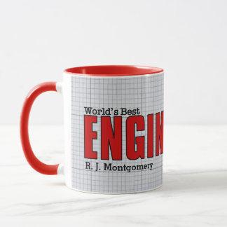 Caneca Vermelho do engenheiro civil do mundo o melhor com