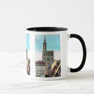 Caneca Vintage France da réplica, catedral de Strassbourg