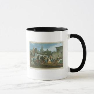 Caneca Vítimas de inundação de visita de Napoleon III de