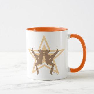 Canecas da laranja das vaqueiras da estrela
