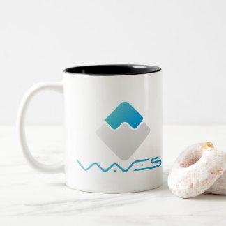 Canecas de café da plataforma das ondas e canecas