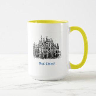Canecas de café do desenho da catedral de Milão