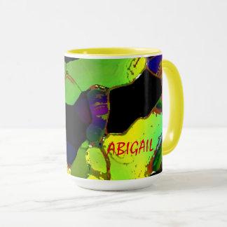 Canecas do chá da cor completa de Abigail Caneca