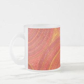 Canecas do vidro de fosco do por do sol do mosaico caneca de café vidro jateado
