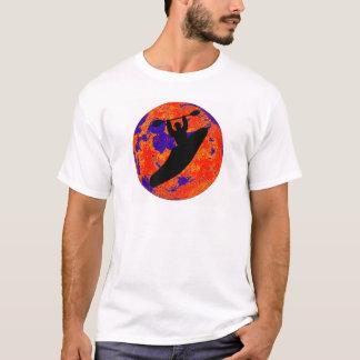 Canela lunar do caiaque camiseta