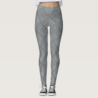 Caneleiras chapeadas diamante do Falso-Metal Leggings