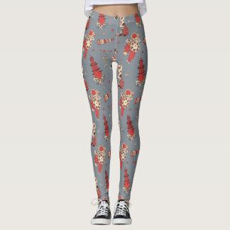 Caneleiras com ilustrações chinesas do vintage das leggings
