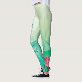 Caneleiras das opções da imagem da arte abstracta leggings