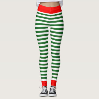 Caneleiras do duende do feriado - calças do traje leggings