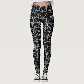 Caneleiras do floco de neve leggings