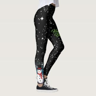 Caneleiras do preto da noite estrelado legging