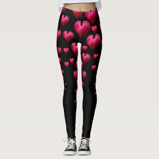 Caneleiras dos corações de sangramento leggings