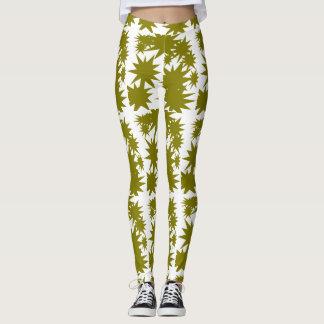 Caneleiras verde-oliva do star power leggings