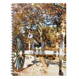 Canhão da guerra civil caderno espiral