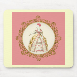 Caniche branca Marie Antoinette Mouse Pad