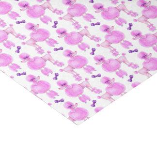 Caniche cor-de-rosa lenço de papel modelado da