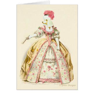 Caniche de Marie Antoinette Cartão Comemorativo
