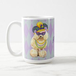 Caniche diminuta do carnaval caneca de café