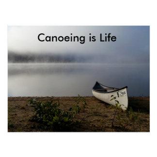 Canoeing é cartão da vida