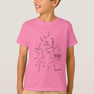 """'Cante """"até a camisa"""" do miúdo satisfeito do seu Camisetas"""