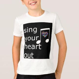 cante seu coração para fora tee t-shirts