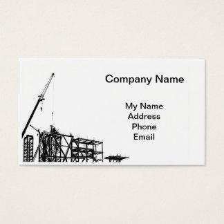 Canteiro de obras com guindaste cartão de visitas