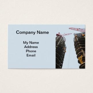 Canteiro de obras do Highrise com dois guindastes Cartão De Visitas