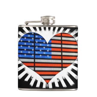 Cantil Bandeira americana do coração do patriota