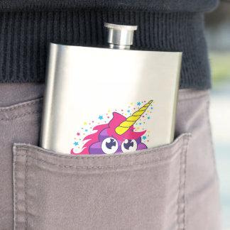 Cantil De Bebida Tombadilho roxo de Emoji do unicórnio