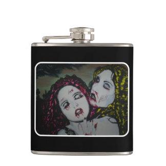 """Cantil Do """"namoradas cemitério em uma garrafa de aço"""