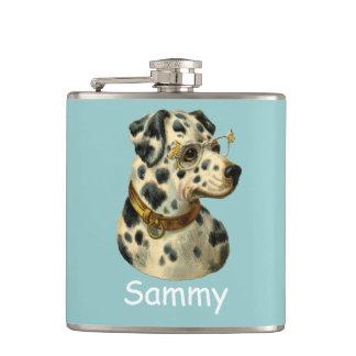 Cantil garrafa engraçada do dalmation do hipster do cão