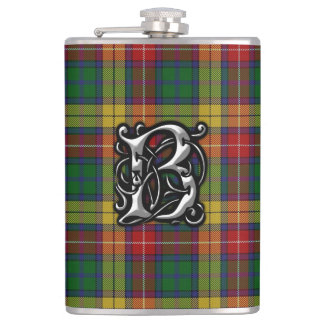 Cantil Garrafa velha de Scotland do Tartan de Buchanan do