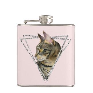 Cantil Gato de gato malhado com quadro do brilho da prata