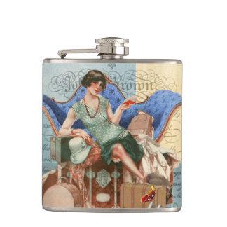 Cantil Menina do Flapper do vintage em Paris