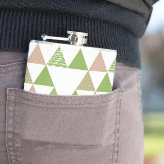 Cantil Mosaico geométrico do triângulo verde das