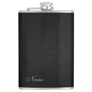 Cantil Olhar de couro preto elegante personalizado