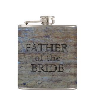 Cantil Pai da grão rústica da madeira do casamento da