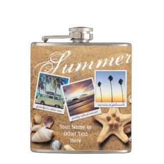 Cantil Seashells da areia do verão do modelo da foto de