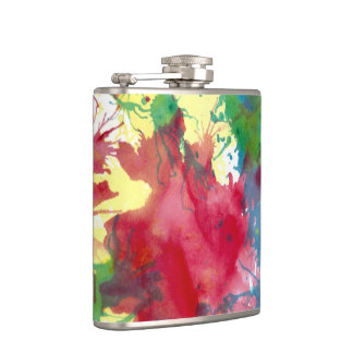 Cantil Splatter colorido da pintura da garrafa anca