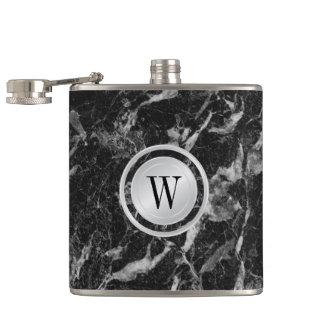 Cantil Teste padrão de mármore preto elegante com